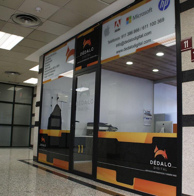 Diseño web, servicios informáticos, imagen corporativa y formación. Oficina de Dédalo Digital en Rivas Vaciamadrid