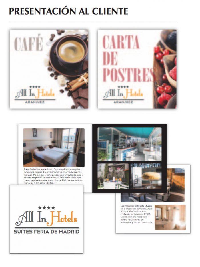 Imagen corporativa para All In Hotels, realizado por Dedalo Digital