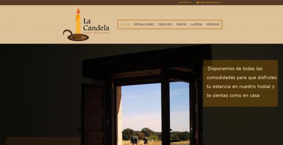 Diseño web para Hostal Retsurante la Candela, realizado por Dedalo Digital
