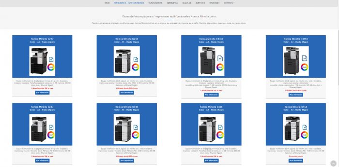 Ibérica de Duplicadoras, impresoras y fotocopiadoras multifuncionales de color