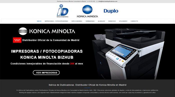 Ibérica de Duplicadoras, impresoras y fotocopiadoras. Proveedor oficial de la Comunidad de Madrid