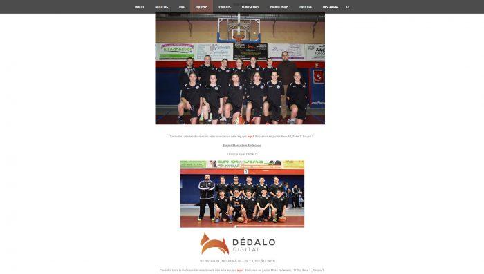 Equipos Junior de Uros de Rivas, equipo de baloncesto de Rivas Vaciamadrid (Madrid)