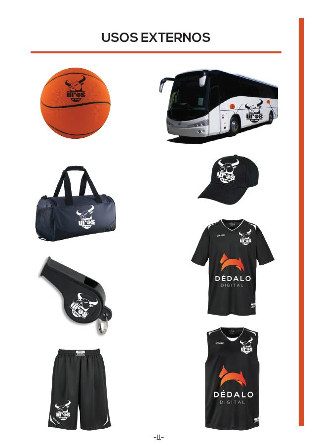 Usos externos de la marca Uros de Rivas, equipo de baloncesto de Rivas Vaciamadrid (Madrid)