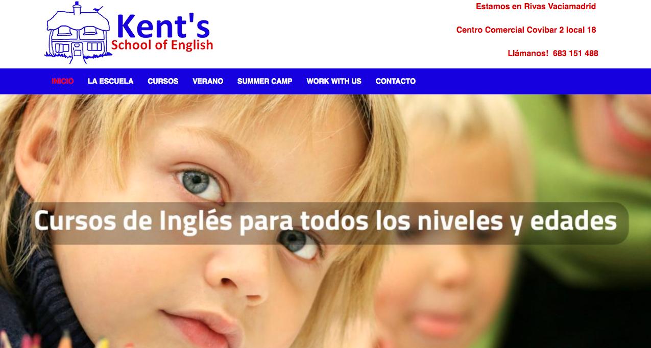 Diseño web academia de inglés por Dédalo Digital