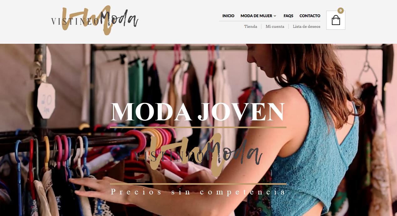 Tienda online de ropa hecho en woocommerce por Dédalo Digital